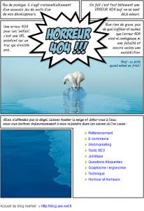 Une très bonne page 404 signée Axe-Net