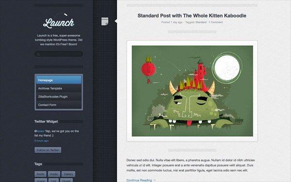Thème Launch pour Wordpress