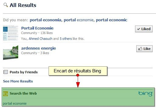 Recherche Portail Economie sur Facebook