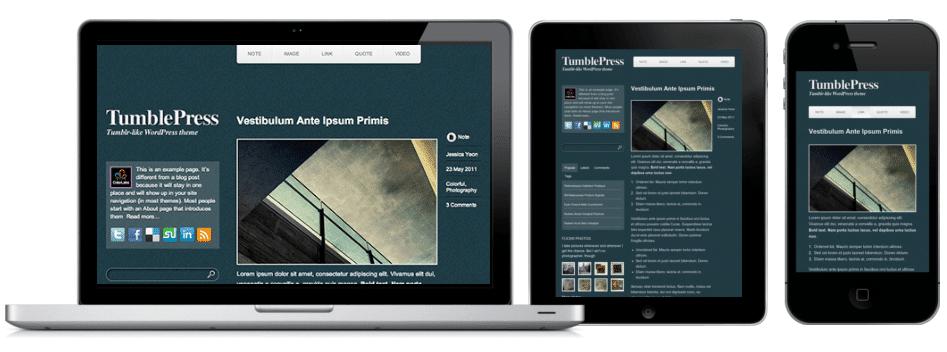 Thème Tumblepress pour Wordpress
