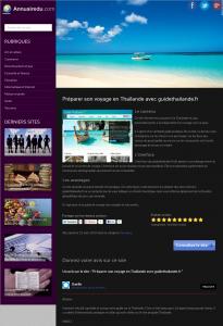 Fiche du site Guide Thailande