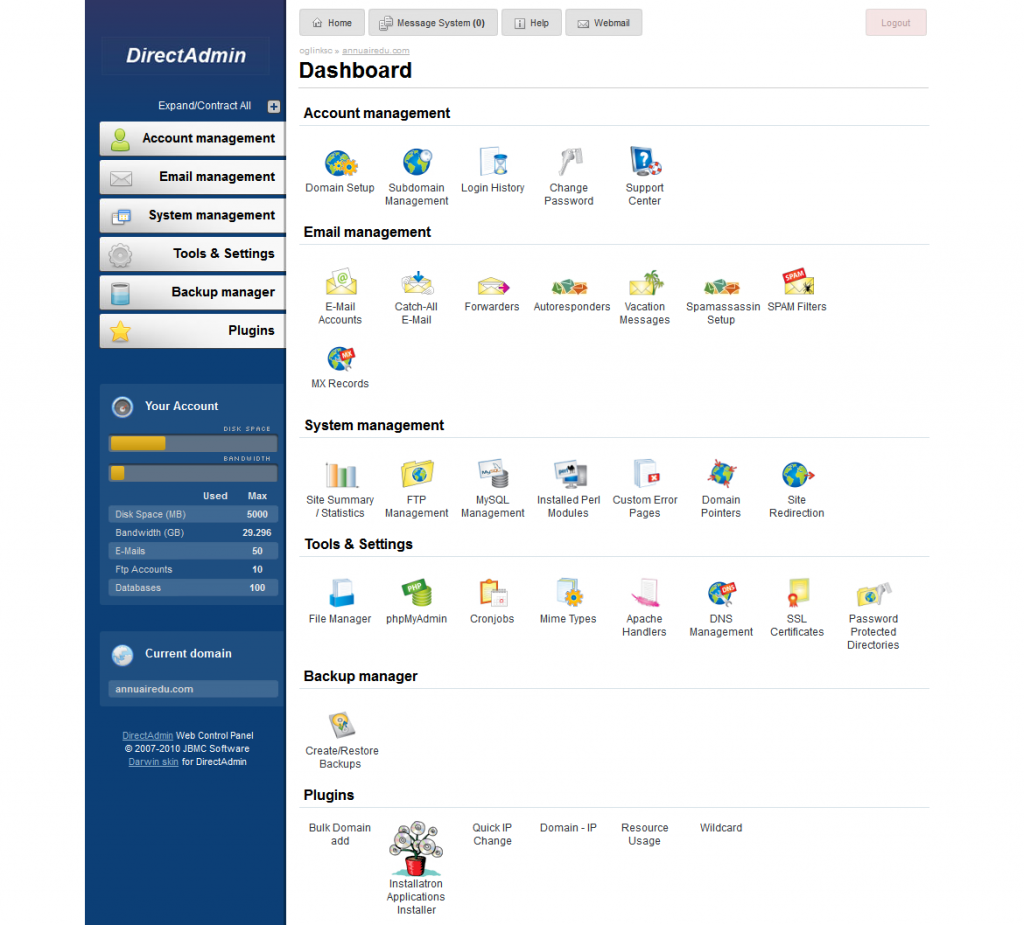 Interface utilisateur de SEOlite