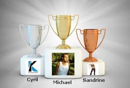 Les 3 gagnants du concours