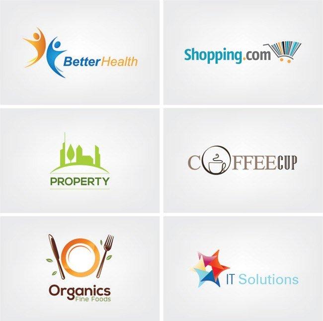 6 logos business de qualité professionnelle