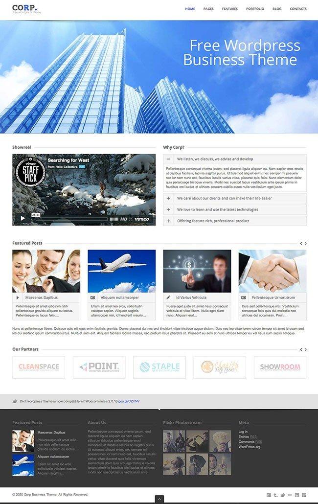Thème Wordpress CORP responsive