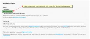 Changer le niveau d'accessibilité de l'application Twitter