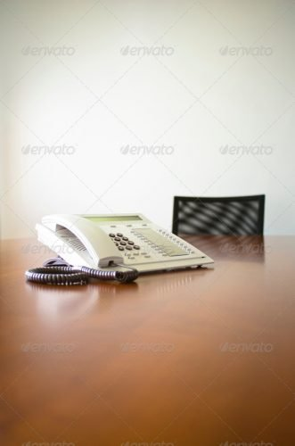Meeting Table and Telephone