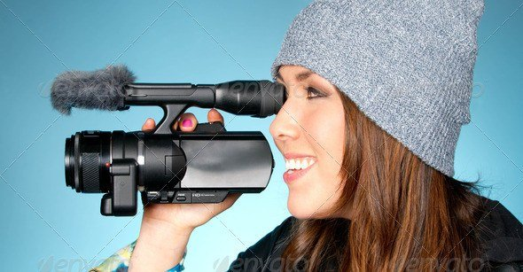 Hip Female Points Video Camera