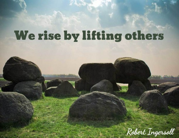 Aider les autres vous pousse de l'avant