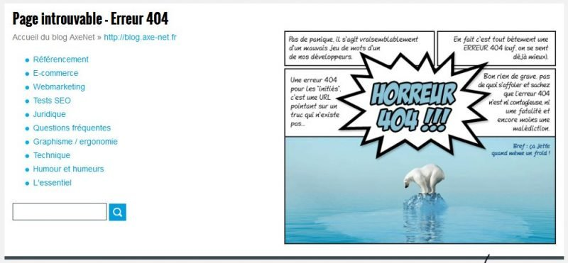 erreur 404 axenet