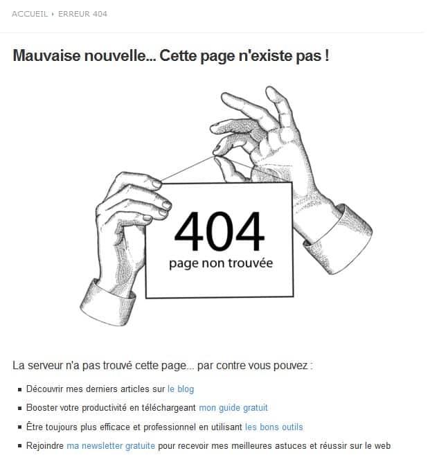 erreur 404 webandseo