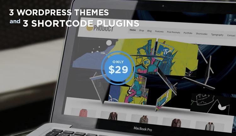 3 WordPress Themes + 3 Shortcode Plugins by Lizatom