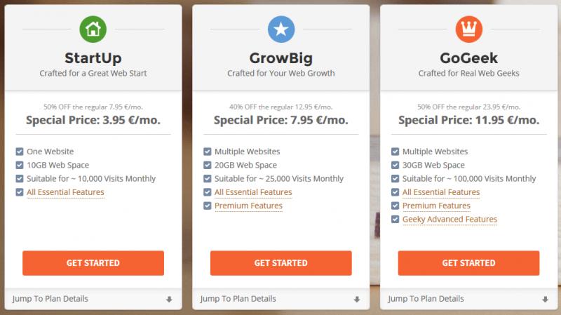 Offres hébergement mutualisé : SiteGround