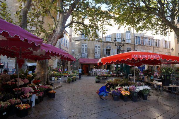 Marché aux fleurs Aix en Provence
