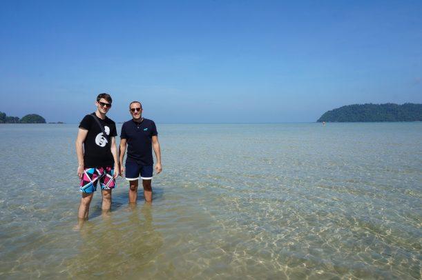 Avec mon pote Elyes à Koh Payam