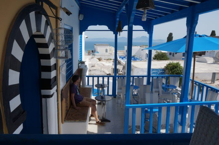Salon de thé à Sidi Bou Said