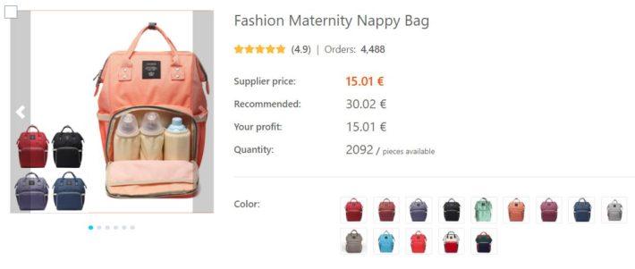 dropshipping sac de maternité