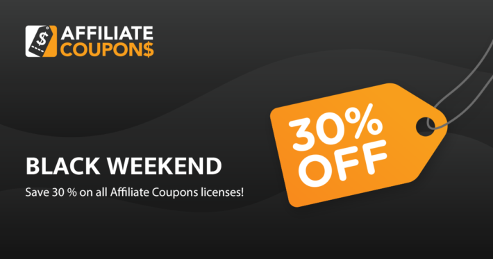 Affiliate Coupons Black Friday