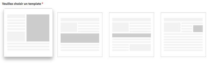 Choix du template pour la mise en avant d'un produit avec All4Affiliates