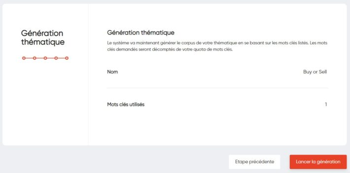 BHM Generator - Génération de la thématique (Création des contenus)